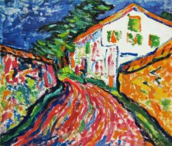 Photograph of a painting by the German Expressionist, Erich Heckel.