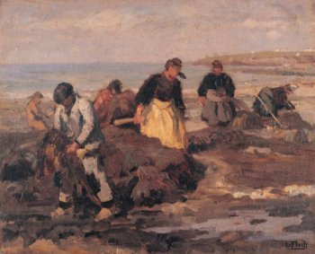 Photograph of a Breton painting by the French artist, Lionel Floch.