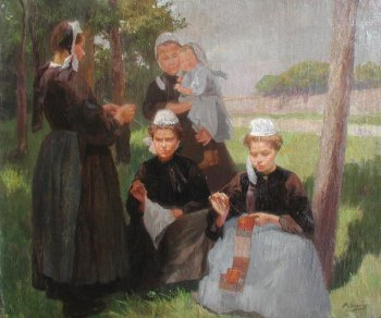 Photograph of a Breton painting by the French artist, Paul Grégoire.