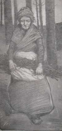 Photograph of a drawing by Paul Henry