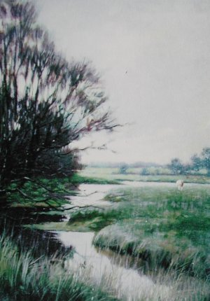 Photograph of a painting by the Irish artist, Joseph Malachy Kavanagh.