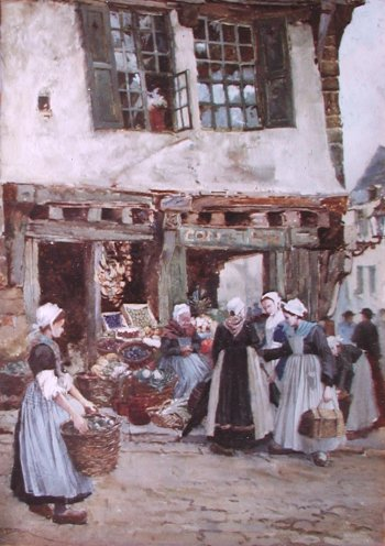Photograph of a Breton painting by Percy Lancaster.