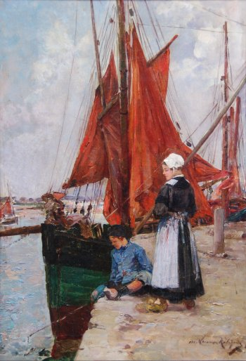 Photograph of a painting by Marie-Aimee Lucas-Robiquet.