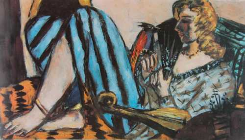 Photograph of a painting by the German Expressionist, Max Beckmann.
