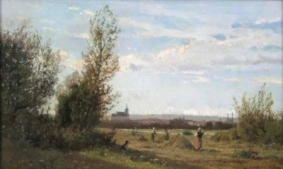 Photograph of a painting by the French artist, Edmond Petitjean.