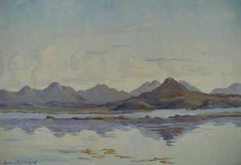 Photograph of a Connemara painting by the Irish artist Stanley Pettigrew.