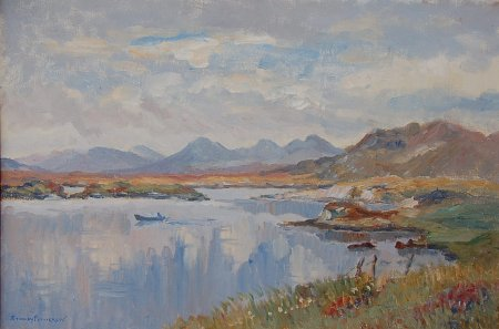 Photograph of a painting by the Irish artist, Stanley Pettigrew